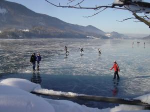 Eislaufen am Fuschlsee