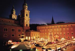 Abendstimmung am Adventmarkt