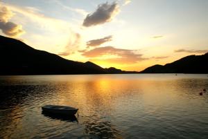 Sonnenuntergang am Fuschlsee