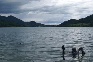 Tauchgang im See