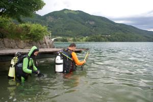 Tauchstunde in Fuschl am See